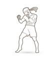 muay thai thai boxing standing vector image