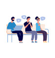 people chatting woman man using smartphones and vector image vector image