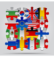 Puzzle flags vector image
