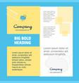 raining company brochure title page design vector image vector image