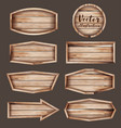 realistic wooden signboard vector image vector image