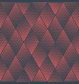 red rhombus geometric halftone seamless pattern vector image