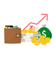 revenue increase concept vector image