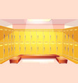 school changing room with lockers vector image vector image