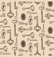 seamless pattern old keys and keyholes vector image