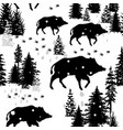 seamless pattern with wild boars vector image vector image