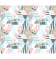 seamless triangle pattern tropical birds palms vector image vector image