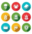set hamlet tragedy icons death love vector image