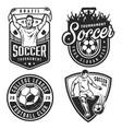 set of soccer emblems vector image vector image