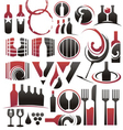 set wine icons symbols signs and logos vector image