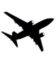 silhouettes of planes on a white background vector image