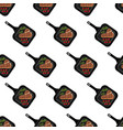 steak on grill pan seamless pattern vector image vector image
