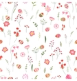 Stylized easter seamless pattern with cute flowers vector image