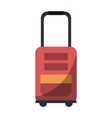 travel luggage isolated vector image