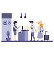 trendy hotel receptionist flat design vector image vector image