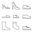 type of shoes collection icon vector image vector image