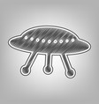 ufo simple sign pencil sketch imitation vector image vector image