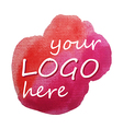 Watercolor red sign vector image vector image