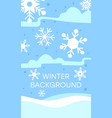 winter landscape background flat vector image vector image