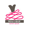 woman dress boutique or fashion atelier salon vector image vector image