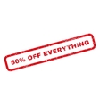 50 Percent Off Everything Rubber Stamp vector image