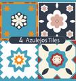 a set colorful azulejos vector image vector image