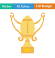 American football trophy cup icon vector image