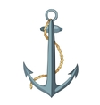 Anchor and rope with outline vector image
