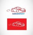 Auot car shape logo vector image vector image