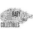 baby doll collectibles text word cloud concept vector image vector image