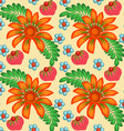 background painted with flowers vector image vector image
