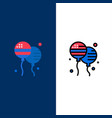 balloon balloons fly american icons flat and line vector image vector image