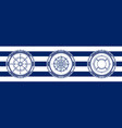 banner with sea emblems vector image