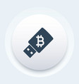 bitcoin wallet on usb stick vector image