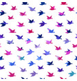 bright multicolored crane birds seamless pattern vector image vector image