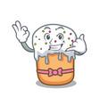 call me easter cake mascot cartoon vector image vector image