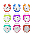 Colorful Alarm Clock Set vector image vector image