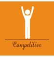 competitive spirit design vector image