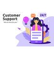 customer and operator online technical support vector image