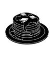 delicious pancakes breakfast vector image