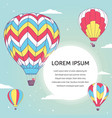 Design template with hot air ballons