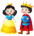 fairytale characters of king and queen vector image vector image