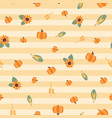 fall background pumpkins corn sunflowers vector image vector image