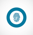 fingerprint bold blue border circle icon vector image vector image