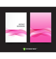Flyer Brochure background templated 013 Ligth pink vector image vector image