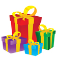 Gift box Colorful gift box isolated on white vector image