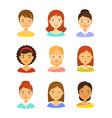girl avatar icons set