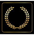 Gold laurel wheat wreath icon black vector image vector image