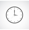 Grey clock icon vector image
