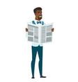 groom reading newspaper vector image vector image